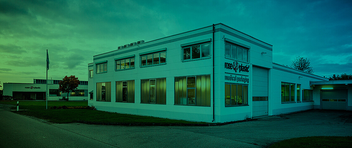 The headquarter of rose plastic medical packaging in Hergensweiler, Germany.